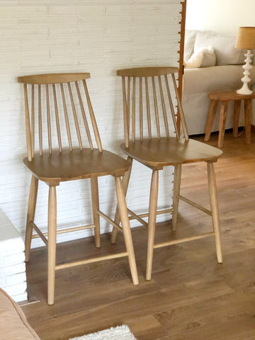 Pair of Brand New Modern Windsor Counter Height Bar Stools
