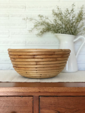 Vintage Wooden Coiled Dough Bowl
