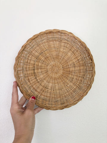 Round wicker Basket Perfect for Basket Wall Art