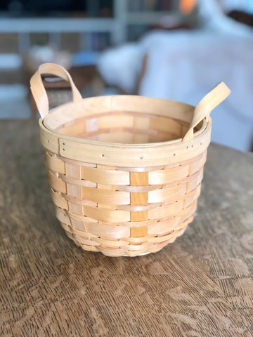 Woven Wicker Basket With Handles
