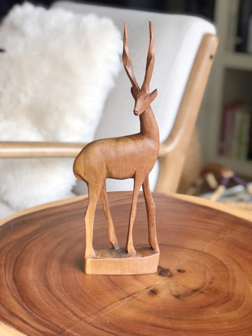Hand crafted wooden Gazelle made in Kenya