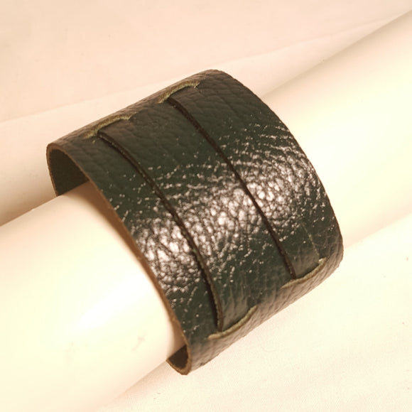 Forest green Pebble grain leather