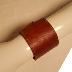 Brown cowhide leather