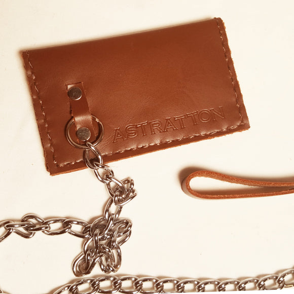 Card fold wallet (chocolate chap leather)