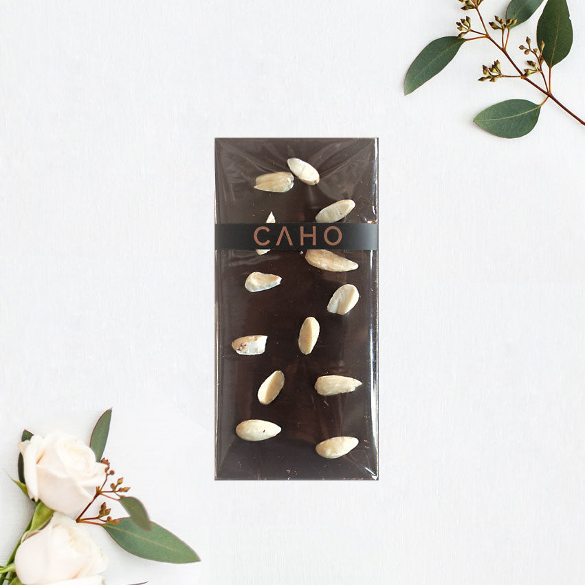 Almond Dark Chocolate Bar - Caho Chocolatier