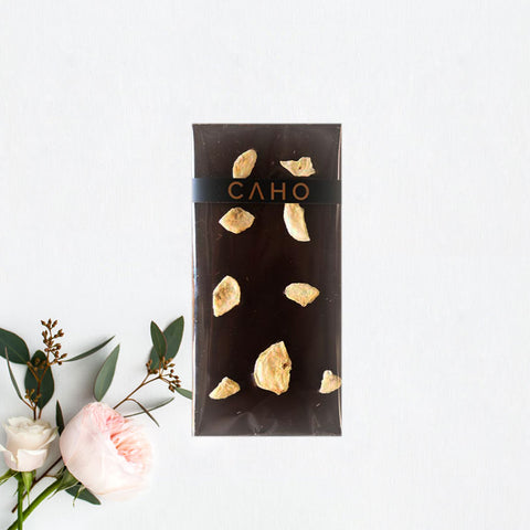 Apple Dark Chocolate Bar - Caho Chocolatier