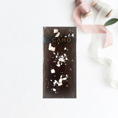 Coconut Dark Chocolate Bar - Caho Chocolatier