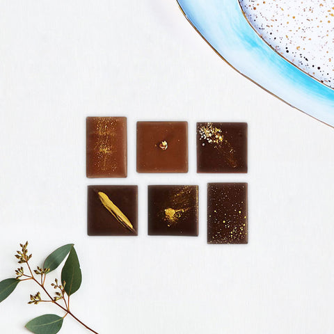 Edible Gold Chocolate Pieces Selection - Caho Chocolatier