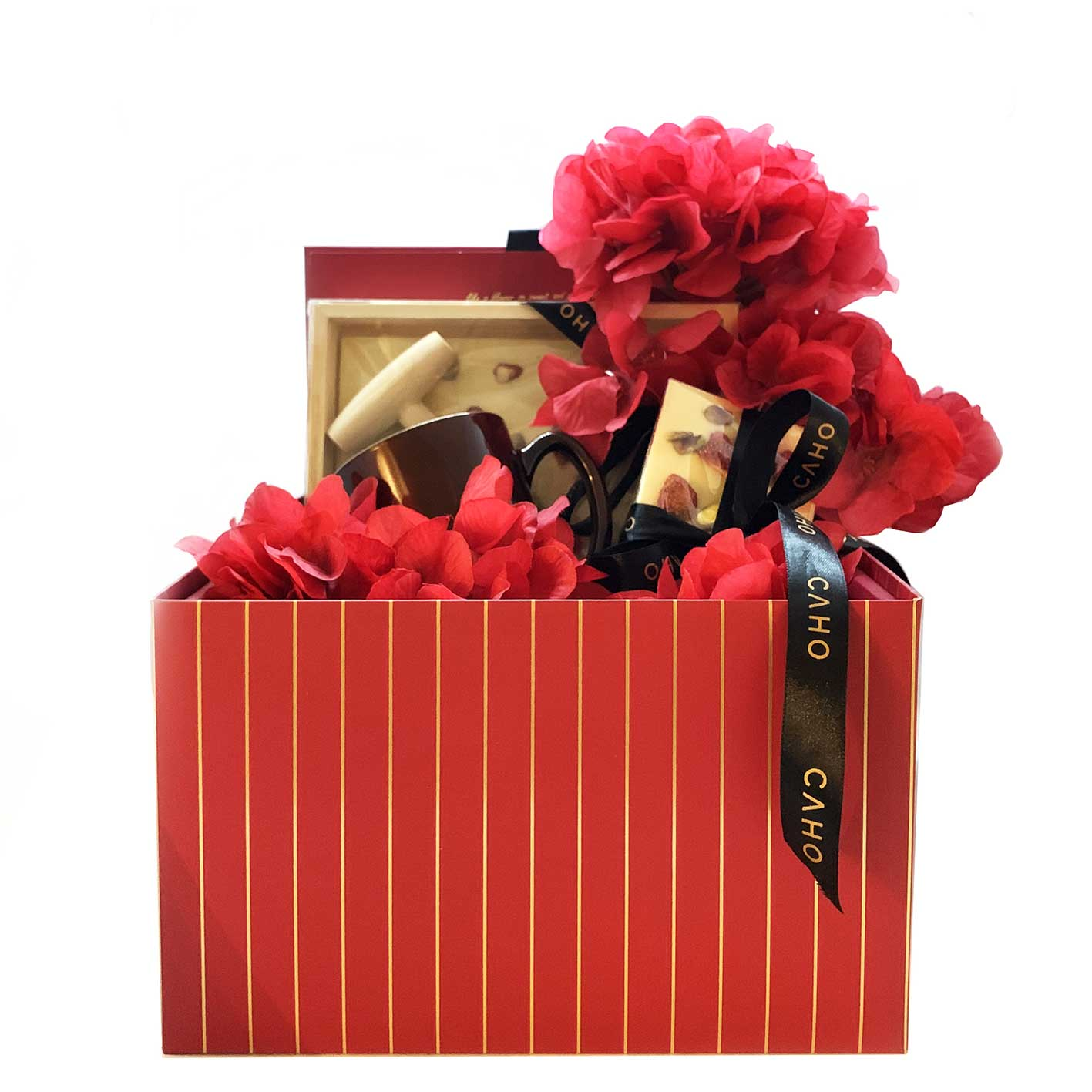 Red Valentine Hamper - Caho Chocolatier