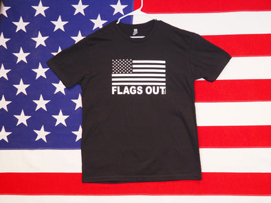 Men's FLAGS OUT T-Shirt / Premium Cotton-Poly Blend