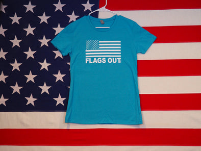 Women's FLAGS OUT T-Shirt / Premium Cotton-Poly Blend