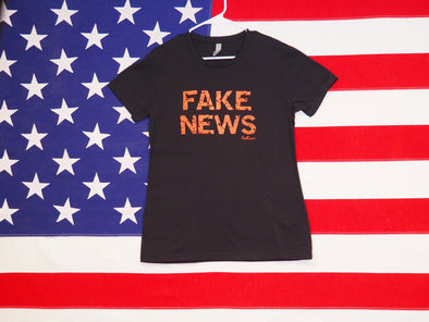 Women's FAKE NEWS T-Shirt / Premium Cotton-Poly Blend