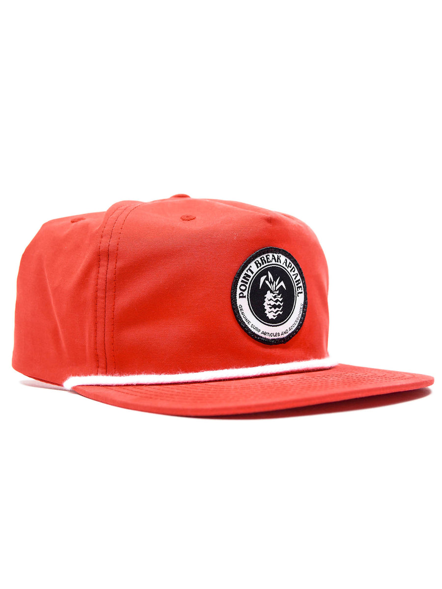 Patched Lifeguard Snapback, Red