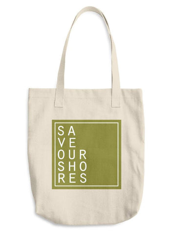 Save Our Shores Tote, Olive