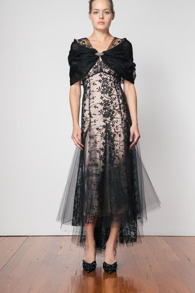 Organza Wrap - Black - Moss & Spy