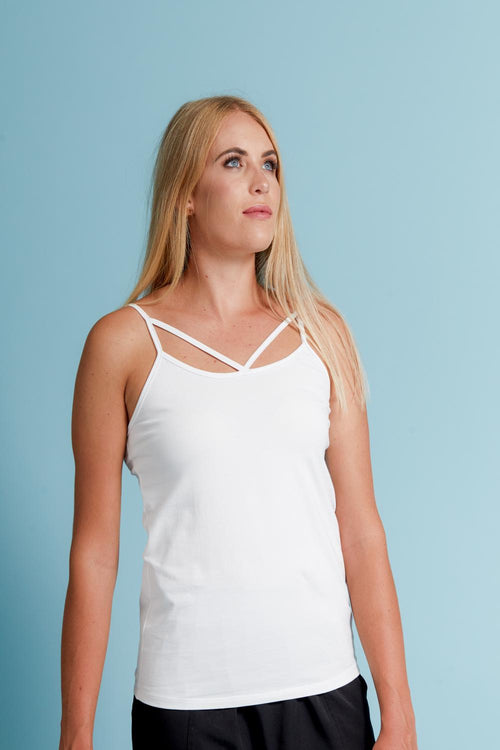 Cross Tank White - Mi Moso