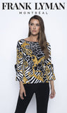 Frank Lyman Black & Gold Knit Top
