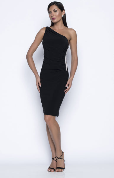 Frank Lyman Knit Dress-  Black