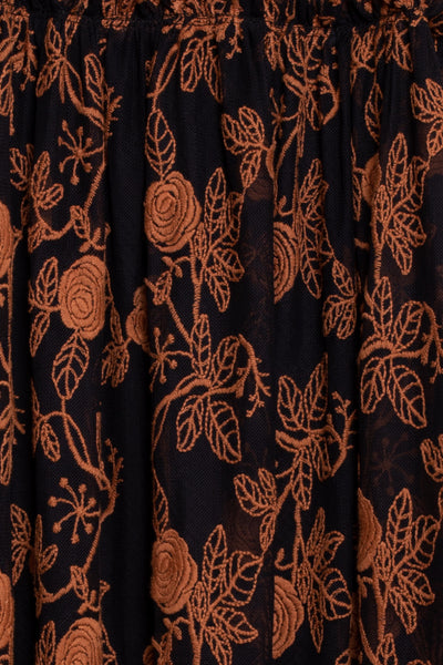 Mela Dress Chocolate Embroidery
