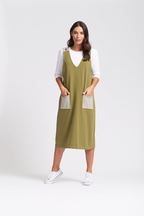 Pinafore - Olive