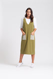 Pinafore - Olive - Optimum