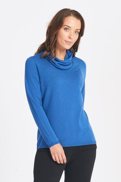 Wrap Neck Jumper - Pumpkin