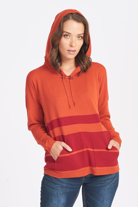Cowl Neck Jumper - Pumpkin