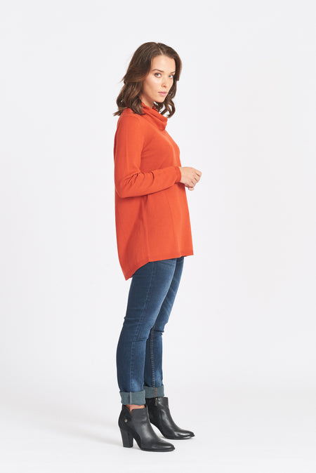Wrap Neck Jumper - Cerise