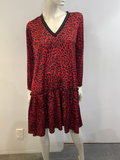 David Pond Ruff All dress - Red