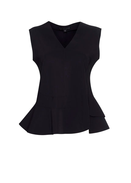 Curved Panel Sleeveless Top - Paula Ryan