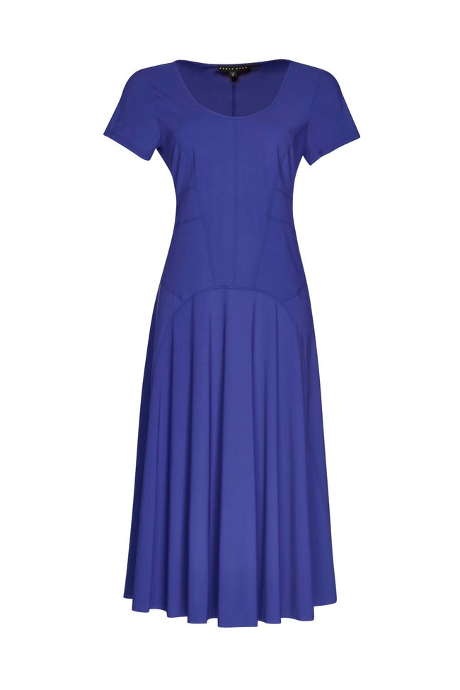 Panelled Short Sleeve Dress - Paula Ryan