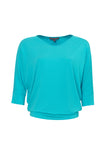 Paula Ryan Batwing Half Sleeve V Neck Top