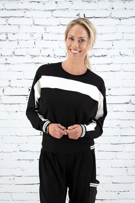 PAULA RYAN RELAXED Raglan Top A-Line with Print - Pre Order