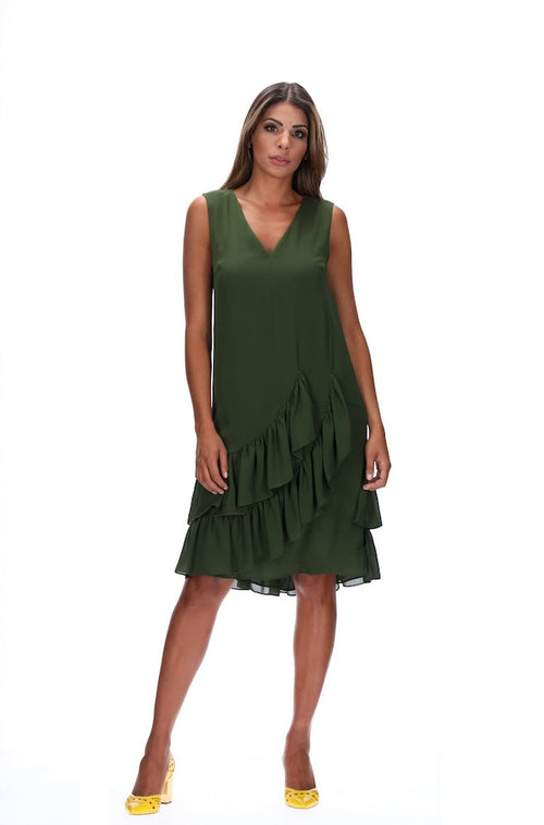 Amaya Gabriella Dress - Khaki