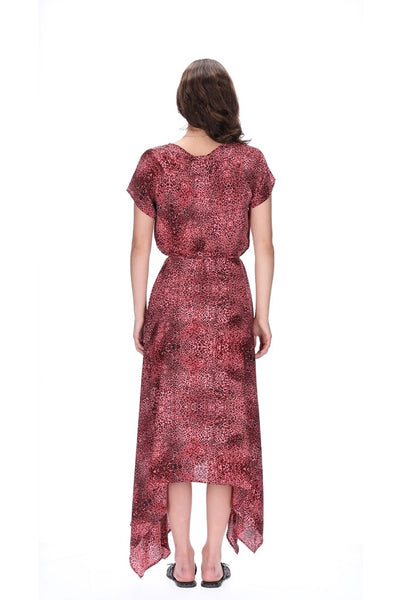 Amaya Estelle Dress Pink Leopard