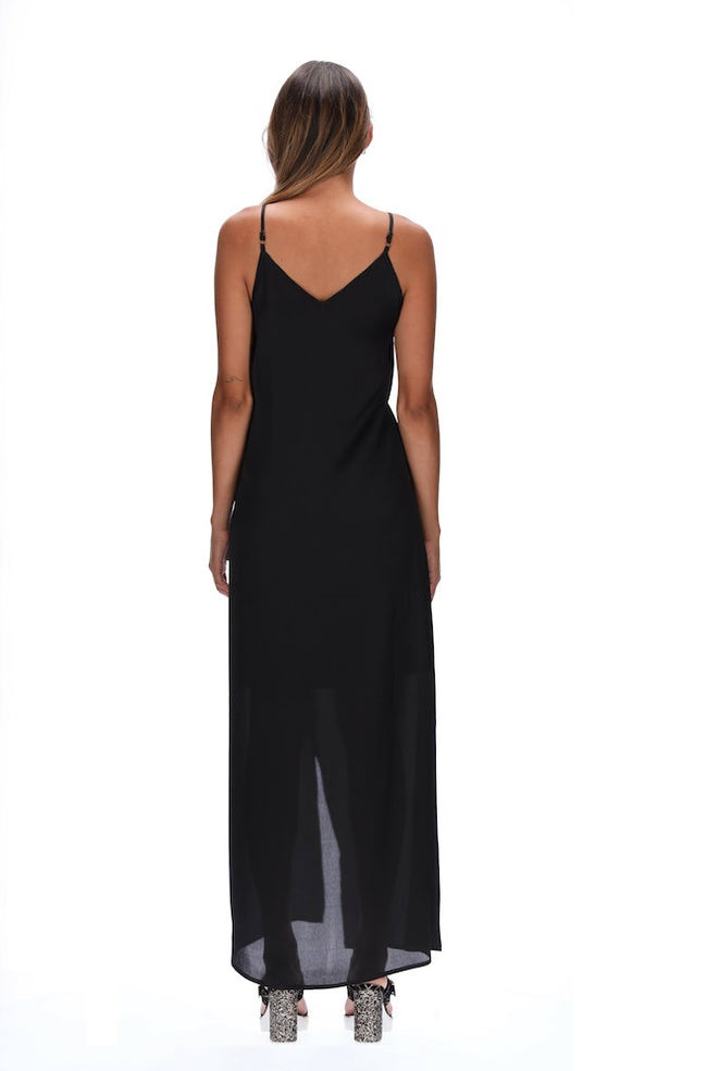 Amaya Elana Wrap Dress - Black