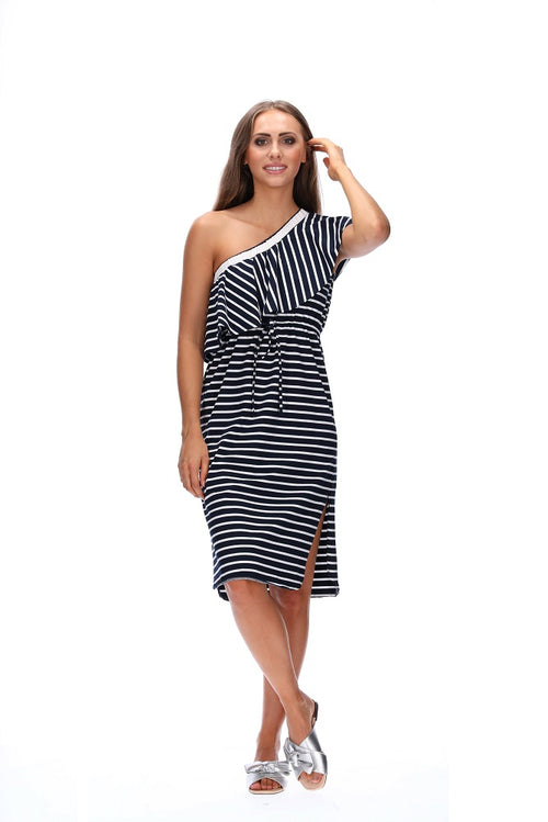 Amaya Arcadia Dress - Navy Stripe