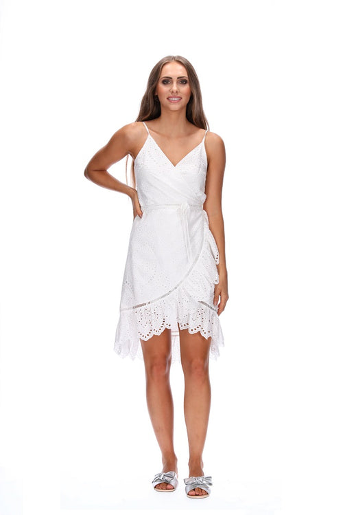 Amaya Sahara Wrap Dress - White