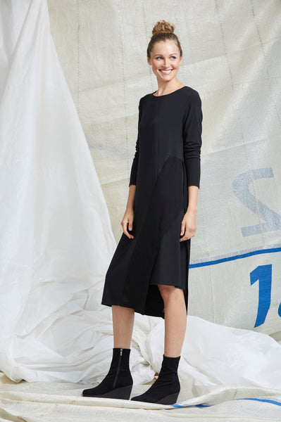 Long Sleeve Spliced Dress - Paula Ryan