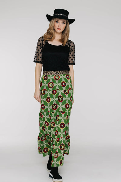 Dolly Skirt - Oreo Green - David Pond