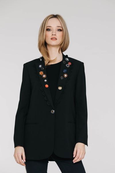Benatar Jacket - Black with Trims - David Pond