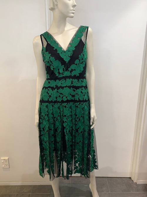 Moss & Spy Emerald Dress