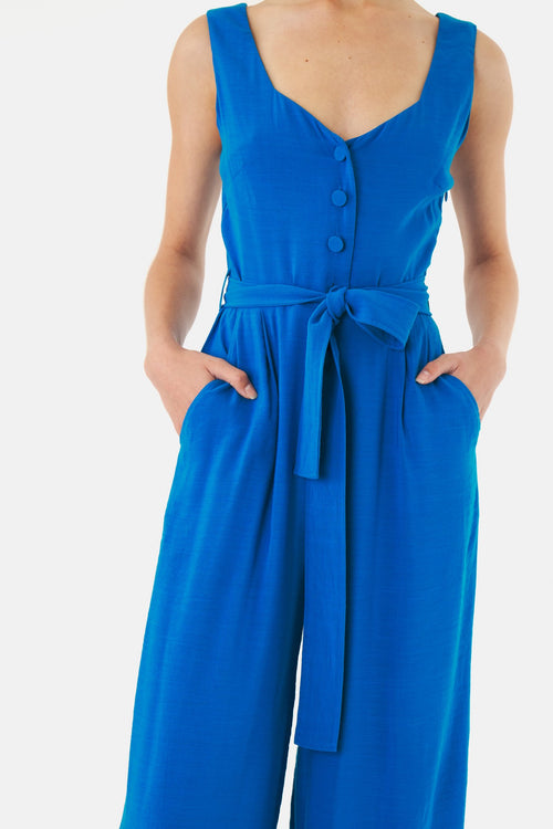Kate Sylvester Flora Jumpsuit - Blue
