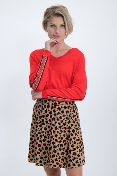 Garcia Pullover Top - Poppy Red