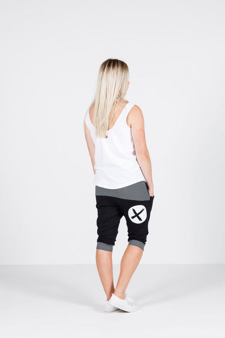 Home Lee PAPER BAG SHORTS - White