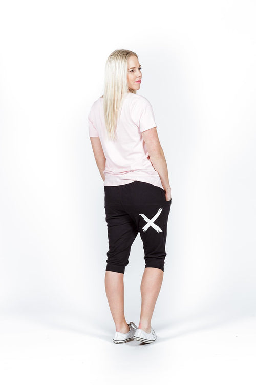 Home Lee 3/4 Apartment Pants - Black - White X