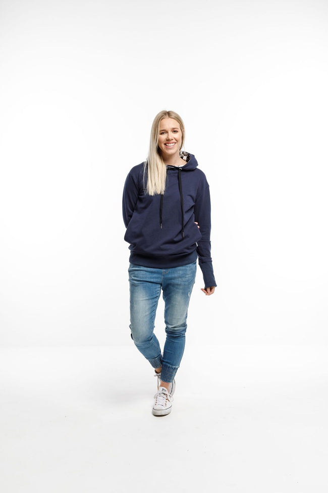 Hooded Sweatshirt  - Navy X