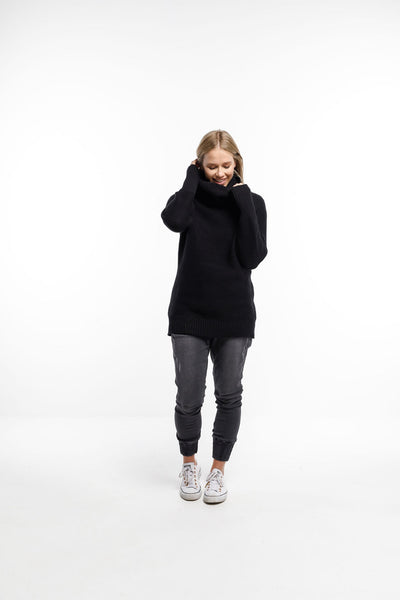 Home Lee Chunky Sweater - Black