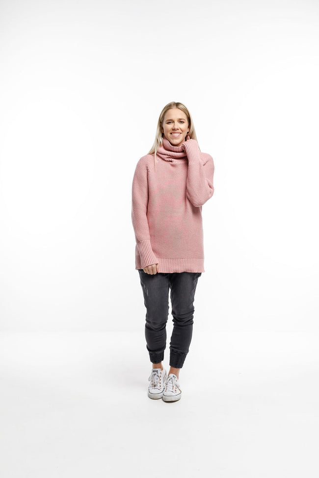 Home Lee Chunky Sweater - Rose