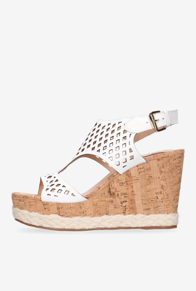 Rosa Wedge - White